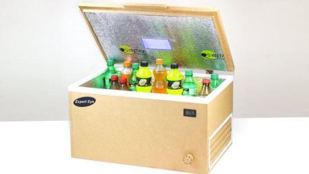 DIY自制冰箱, 牛人用卡板制作小型冰箱, 冷冻的功能超级好!