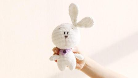 毛儿手作萌宠家族之小兔子款钩针玩偶新手视频教程毛线的织法视频全集