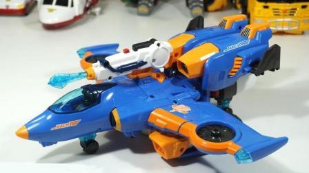 运输飞机玩具运载彩色糖果给机器人