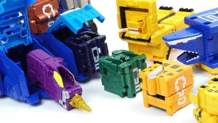 大变形机器人装载机器盒子零件玩具