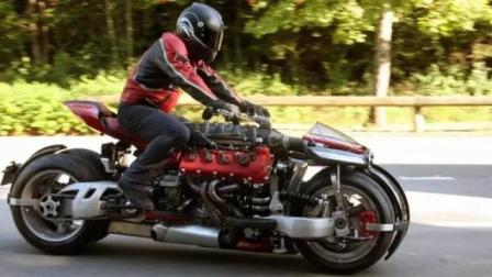 装了玛莎拉蒂引擎的摩托车, 全球仅10辆, 速度快到飞起