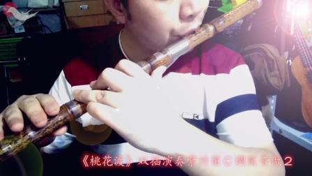 《桃花渡片段》双插紫竹演奏笛C调筒音做2