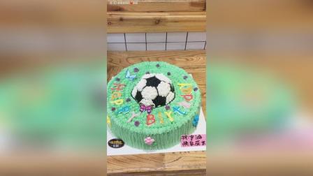 美拍视频: 足球蛋糕教程#美食#