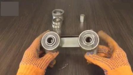 牛人用几个轴承打造一个工具, 真是一项天才发明, 太实用了