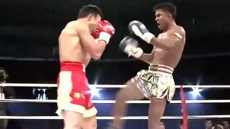 中国军人周志鹏, 挑战泰拳王播求, 看到了差距啊