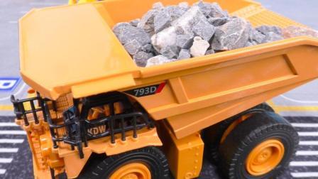 玩具车视频大全: 矿用卡车翻斗车运输车工程车工作表演