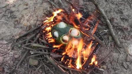【野味小哥全集】原始美味61 西瓜蒸鸡蛋