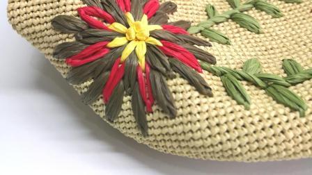第134集 花儿朵朵绣花棉草大包编织教学(上)许红霞教编织