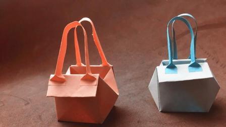 夏天用的迷你手提包折纸, 简单易学关键还很实用, 折纸视频教程!