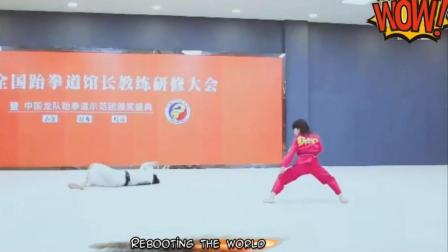 中国功夫小子林秋楠, 小小年纪, 一拳一脚气势直逼吴京