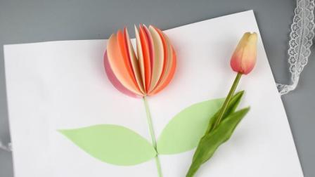 漂亮的立体花朵手工卡片DIY
