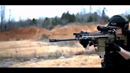 实拍: 外国小马哥, SCAR17步枪移动射击
