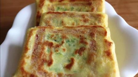 这个早餐饼不要再排队买了, 教你在家就能做, 外皮酥脆, 做法简单