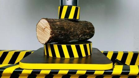 用液压机压木桩, 会发生什么事?