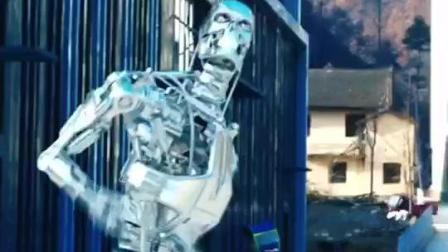 机器人跳舞迈克杰克逊灵魂舞者终结者的机械舞