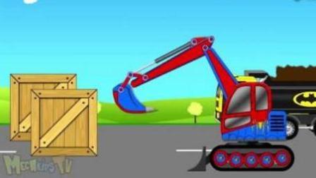 卡通小卡车竞速【11-20关】赛车总动员 挖掘机 推土机 吊车 卡车 汽车总动员动画片