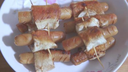 1根杏鲍菇、5根香肠, 试试这个新吃法, 做法超简单的下酒菜
