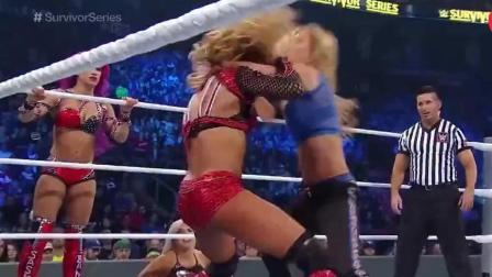 WWE: 女战神就是厉害, 完美诠释了进攻才是最好的防守!