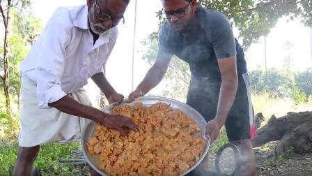 印度老爷爷做的黄油咖喱鸡, 配上自制薄饼, 那叫一个美味