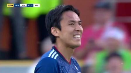 世界杯H组: 两度落后两度追平 日本2比2逼平塞内加尔