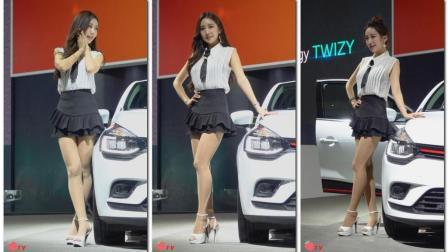 2018 釜山国际车展 雷诺三星 车模-金美珍