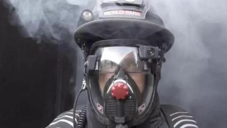 美国黑科技消防帽, 能见度0也能看清, 救援速度提高3倍!