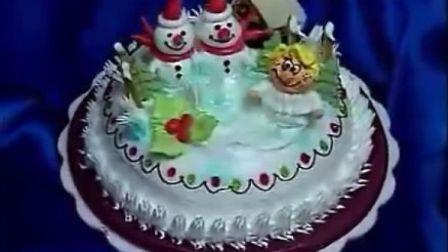 生日蛋糕制作-雪人.