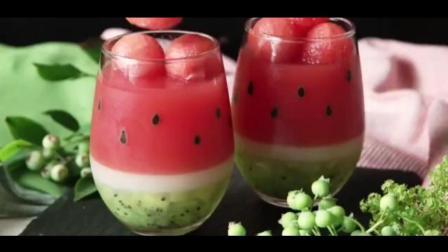 夏天的感觉~清凉的西瓜果冻做法 高颜值又简单