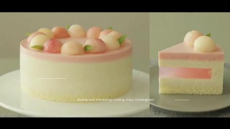 少女心·桃子慕斯蛋糕|浓浓桃子味, 从内到外颜值在线。