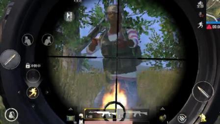 刺激战场: 跑毒路上剩丝血, 不要慌, 就凭这一枪成功吃鸡