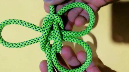 绳结百科:攀缘结的另一种打法,一看即会