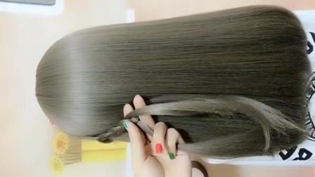 编发教程:这样扎头发既简单又好看,老公说越看越漂亮