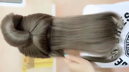 编发教程:碎发多,可以这样扎头发