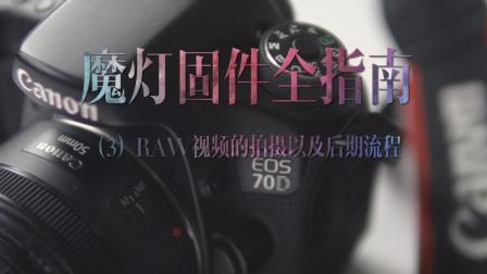 魔灯固件全指南3/3;RAW视频的拍摄已经后期流程