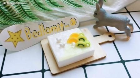 手工黏土水果蛋糕制作过程教学