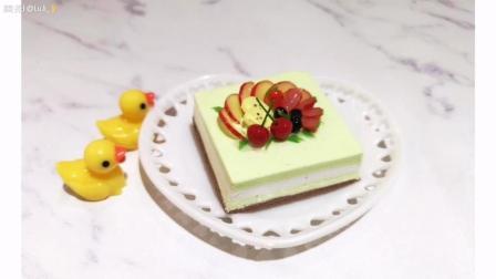 手工黏土水果蛋糕制作教程