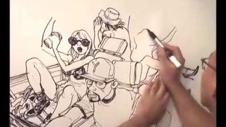 金政基作家 首尔富川动漫展 现场绘画高清版01