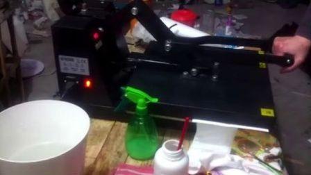 纯棉无手感无胶感热转印热升华测试视屏QQ:1033428739