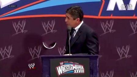 20120328《摔角狂热28》新闻发布会WWE.WrestleMania.28