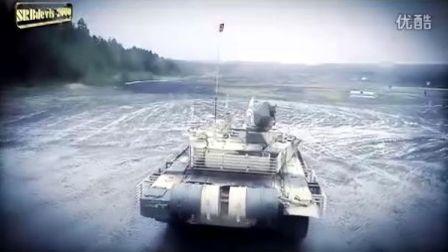 """俄罗斯2012年T-90MS""""塔基尔""""主战坦克与BMPT""""终结者""""弹炮坦克火力支援车官方宣传视频"""