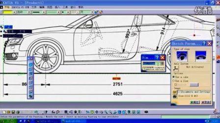 CATIA V5 R20汽车视频教程,需要教程请加1697575169为好友