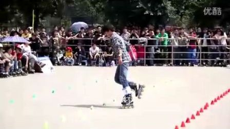 2012  Powerslide 重庆 轮滑公开赛 青男花桩 孟文博 1st