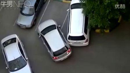悲催!女士停车位就这样费劲!