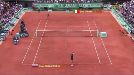 2012法国网球公开赛女单决赛 莎拉波娃VS埃拉尼 (自制HL)
