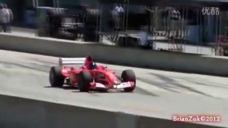 实拍法拉利速度神器一级方程式赛车F2004销魂的高分贝引擎声