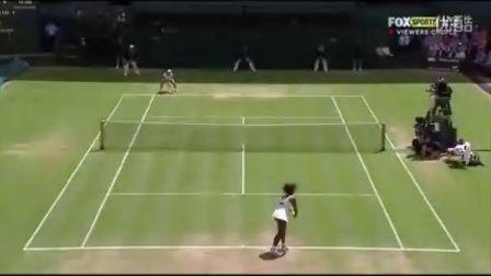 2012温布尔登网球锦标赛女单R3 郑洁VS小威廉姆斯 (自制HL)