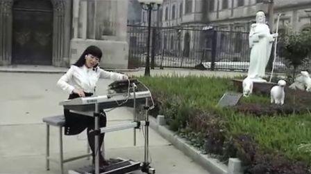 三排键  电子琴弹唱 小敏的《感恩的泪》 济南洪家楼教堂 圣歌  演奏:丁悦