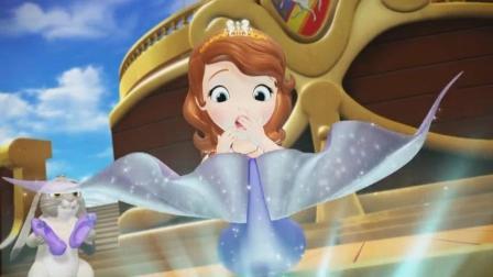 小公主苏菲亚: 索菲亚瞬间变成了美人鱼, 太神奇了, 好美呀索菲亚!