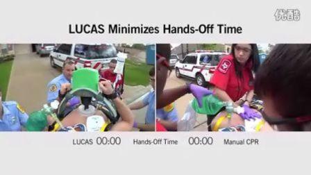 LUCAS心肺复苏机与 人工 CPR按压对比