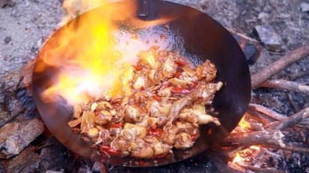 在深山爆炒土鸡, 十足的野味, 口水止不住了